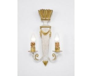 wandlampe-geschnitzt-cremegold-federn-holz-chelini-705