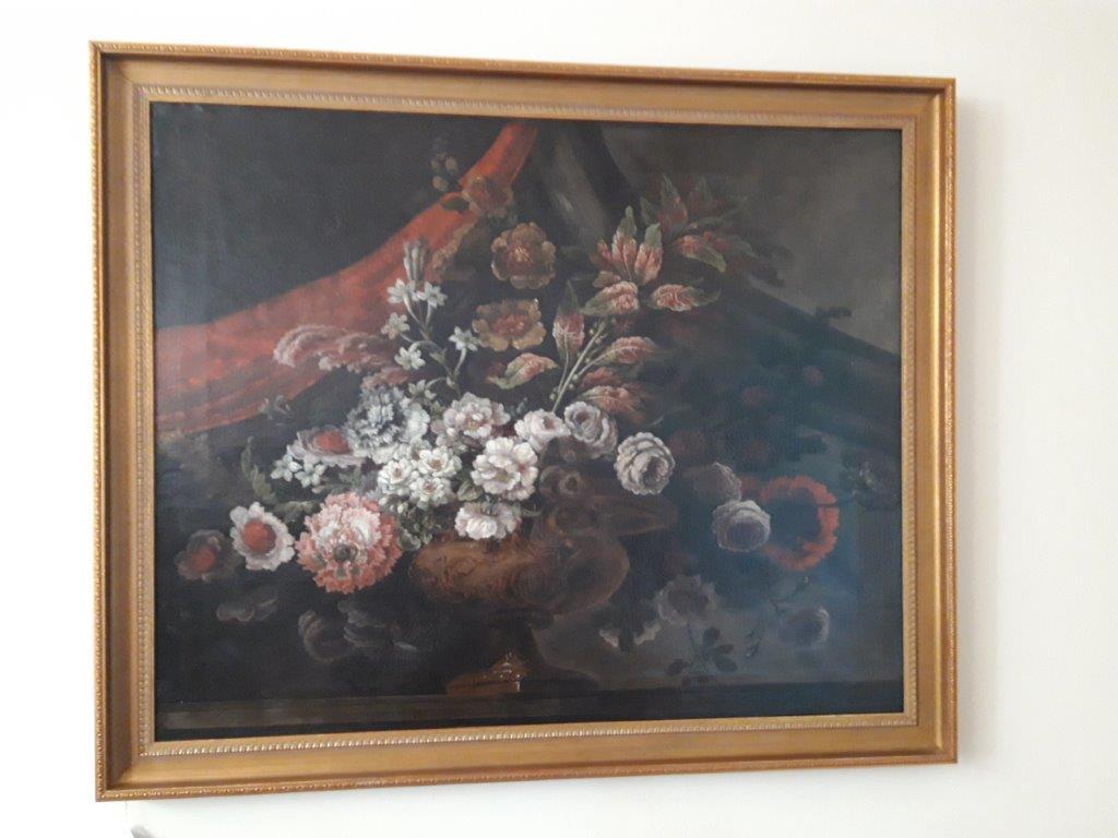 Blumenstilleben, Italien, Ölgemälde aus dem 17. Jhd.