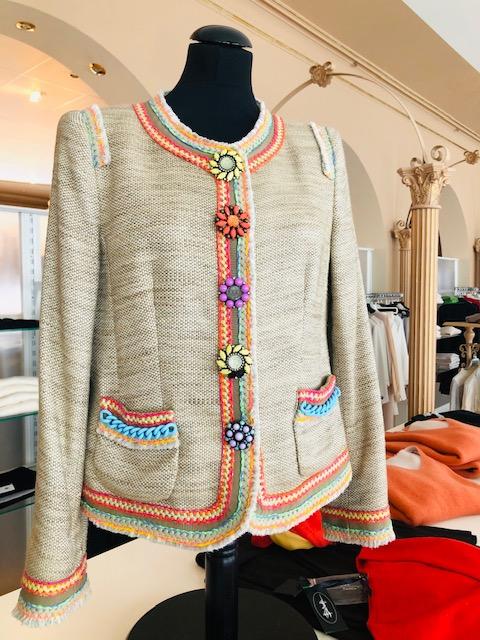 Maison Common Damen extravaganter Blazer mit 4 Knöpfe und Taschen