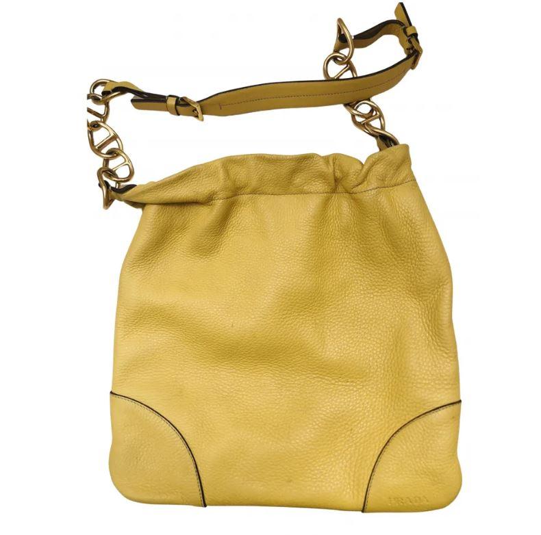 Prada Leder Kleine tasche - Gelb