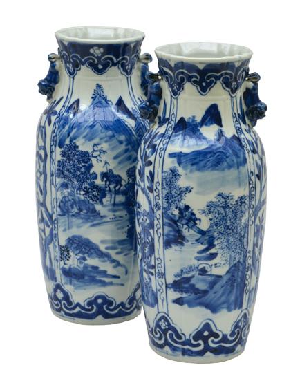 antike Zwillingsvasen aus Japan/China