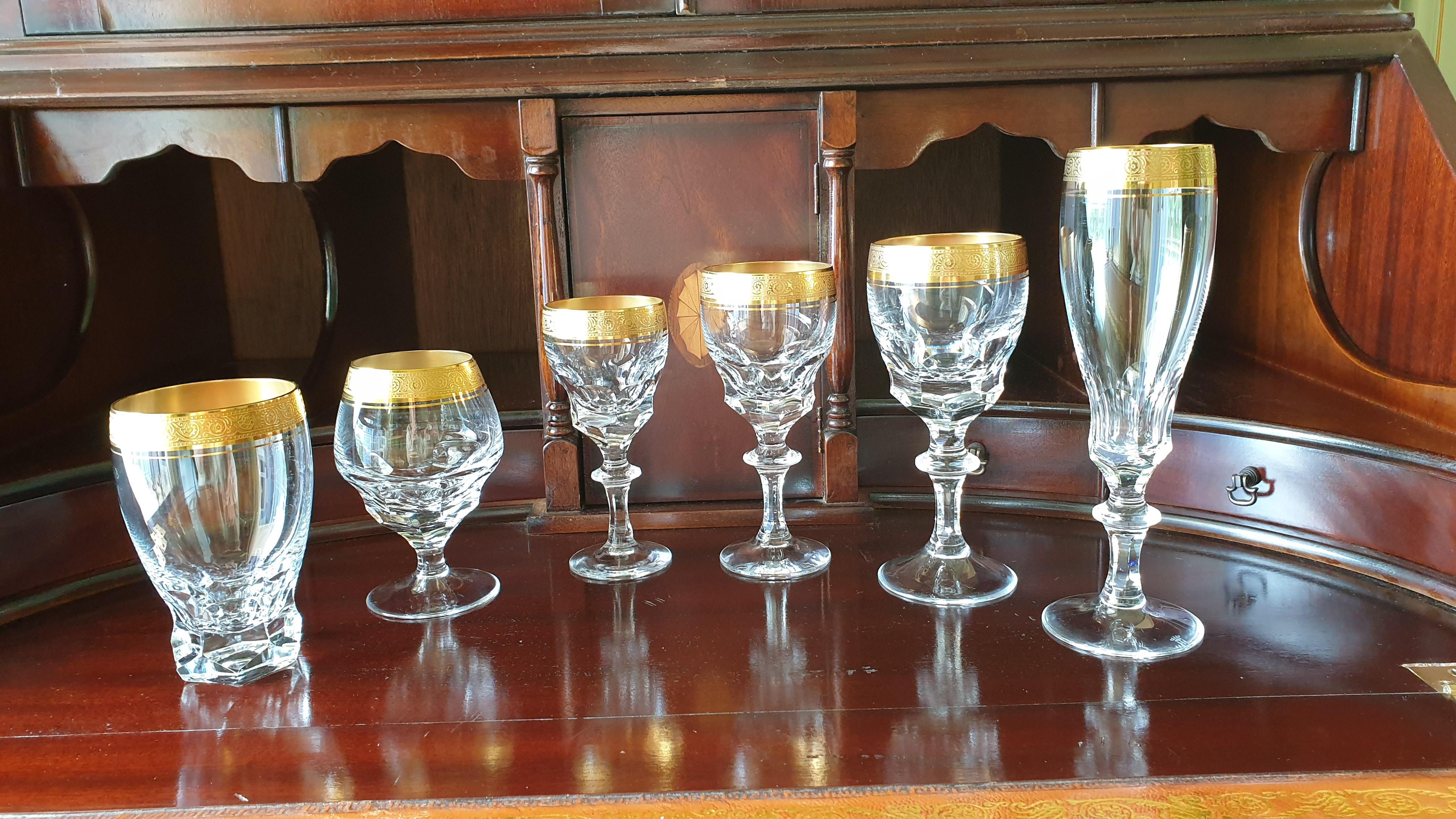 Goldrand Gläser Kristall
