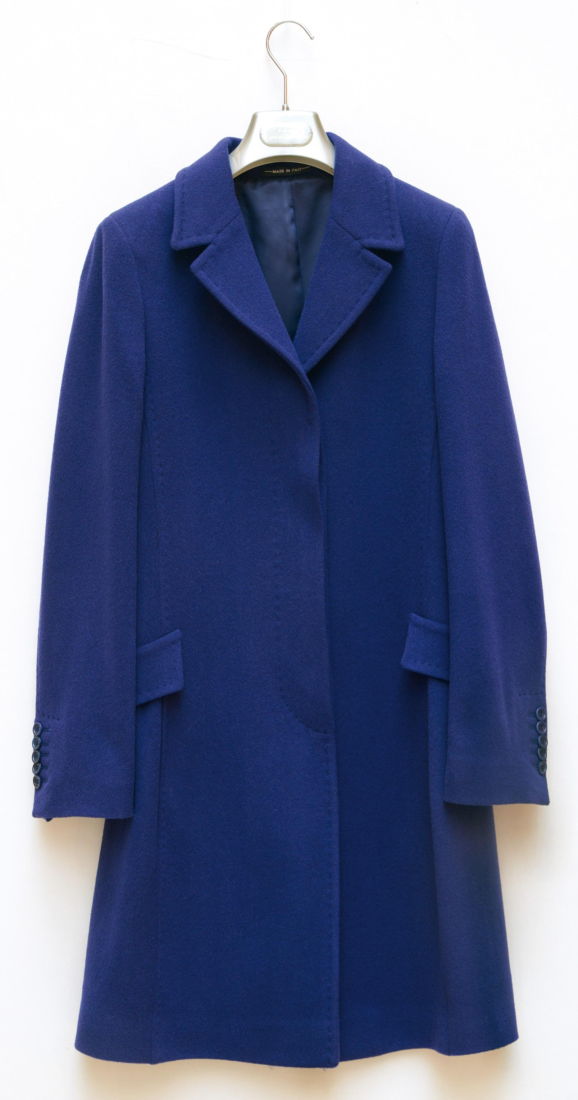 Gabriella Design Wollmantel Blau