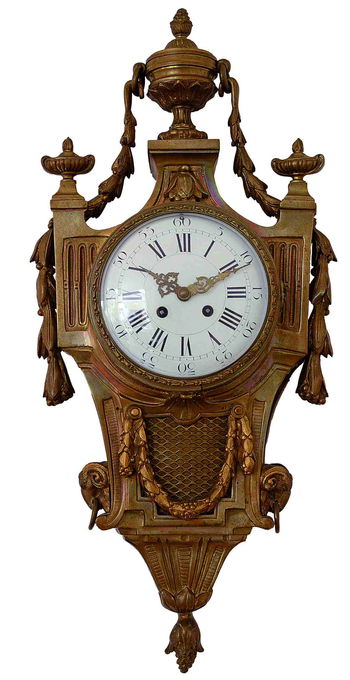 antike Kartell Uhr, Bronze