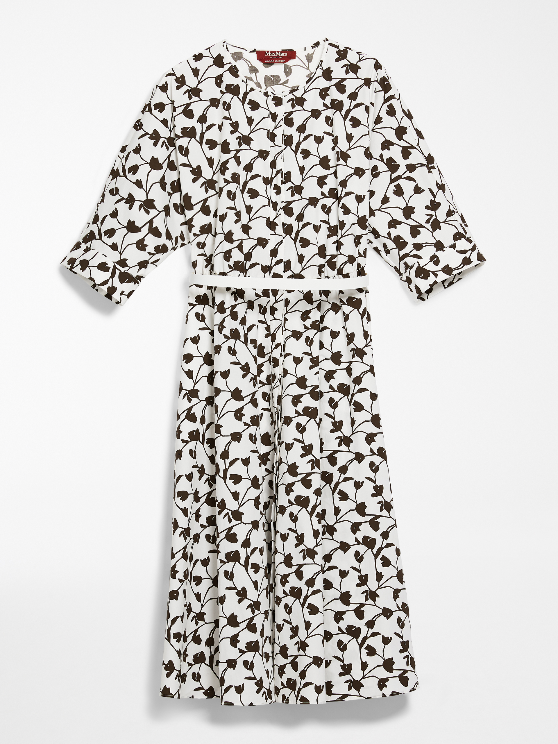 MAX MARA Popeline-Kleid aus Baumwolle