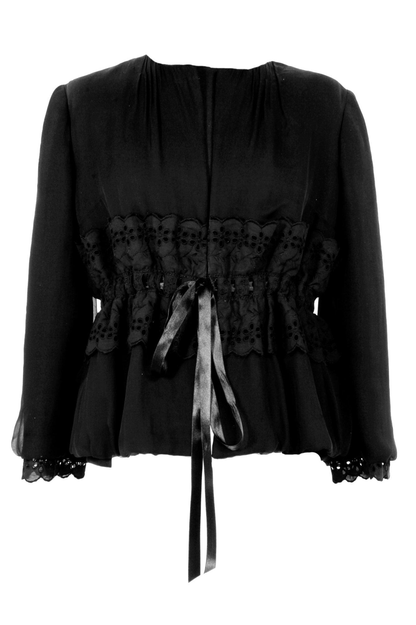 Dolce & Gabbana Blazer in Schwarz mit Spitze, von vorne gesehen