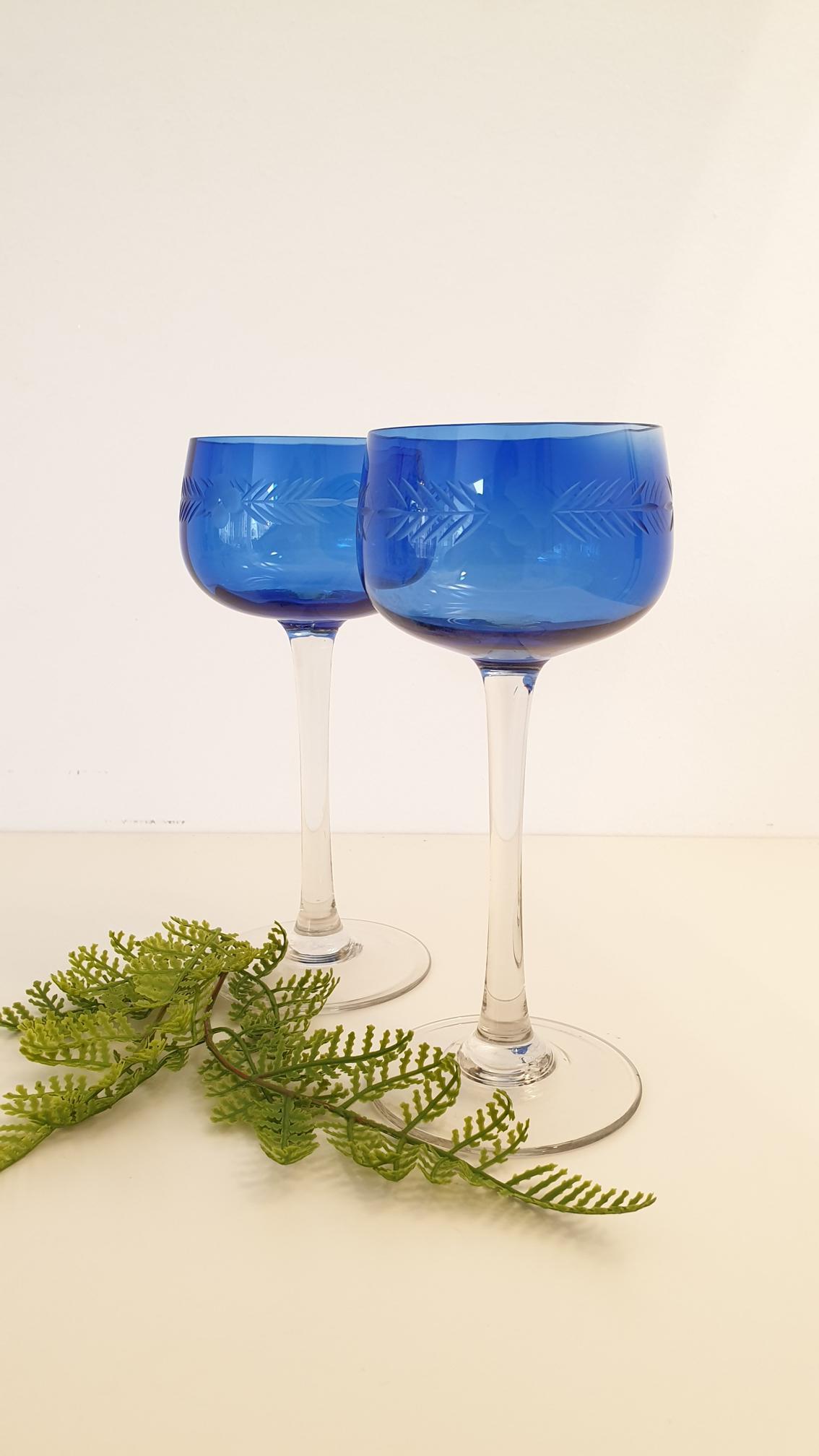 antike Kristall Gläser