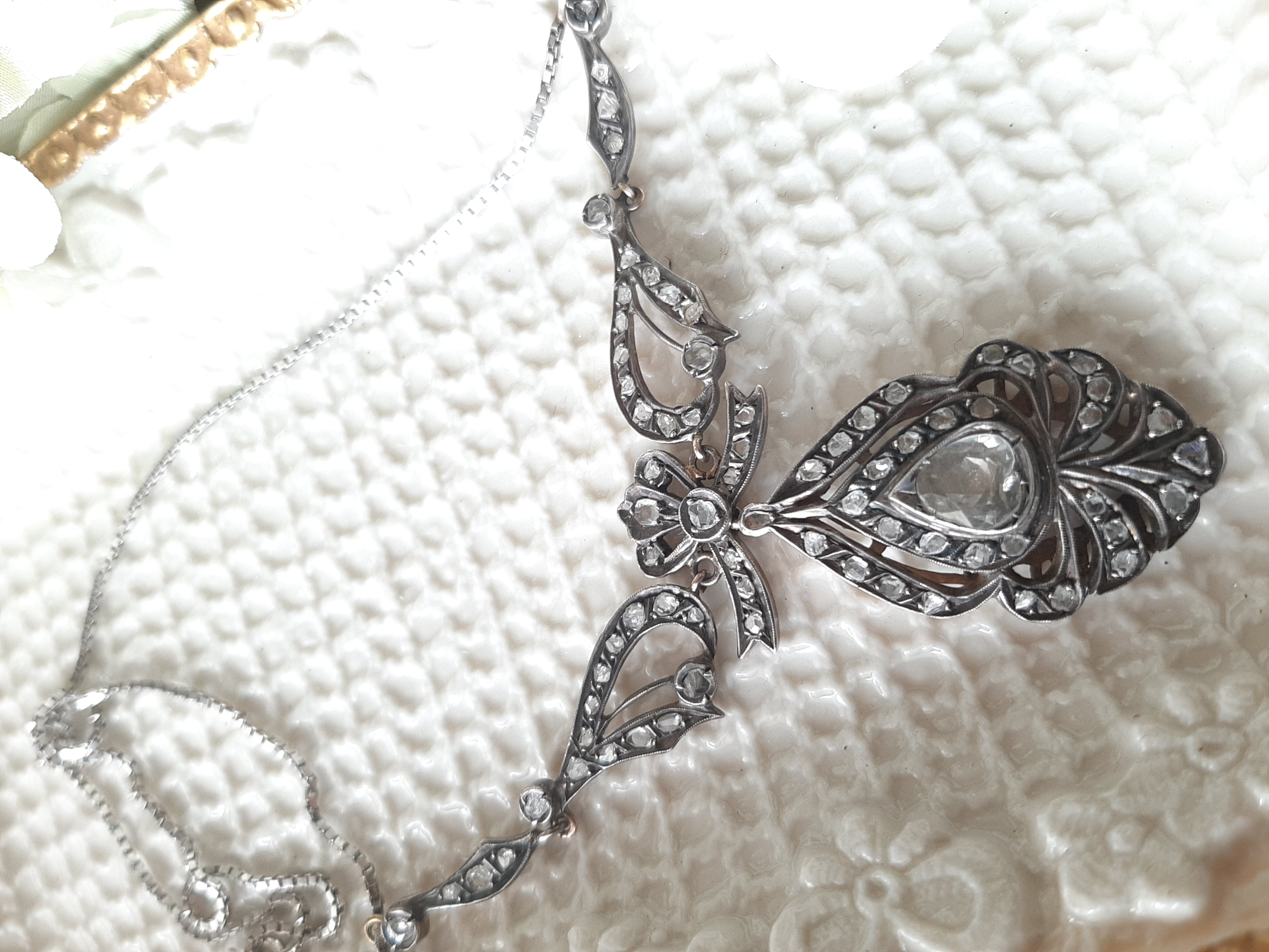 Collier Diamant Tropfen