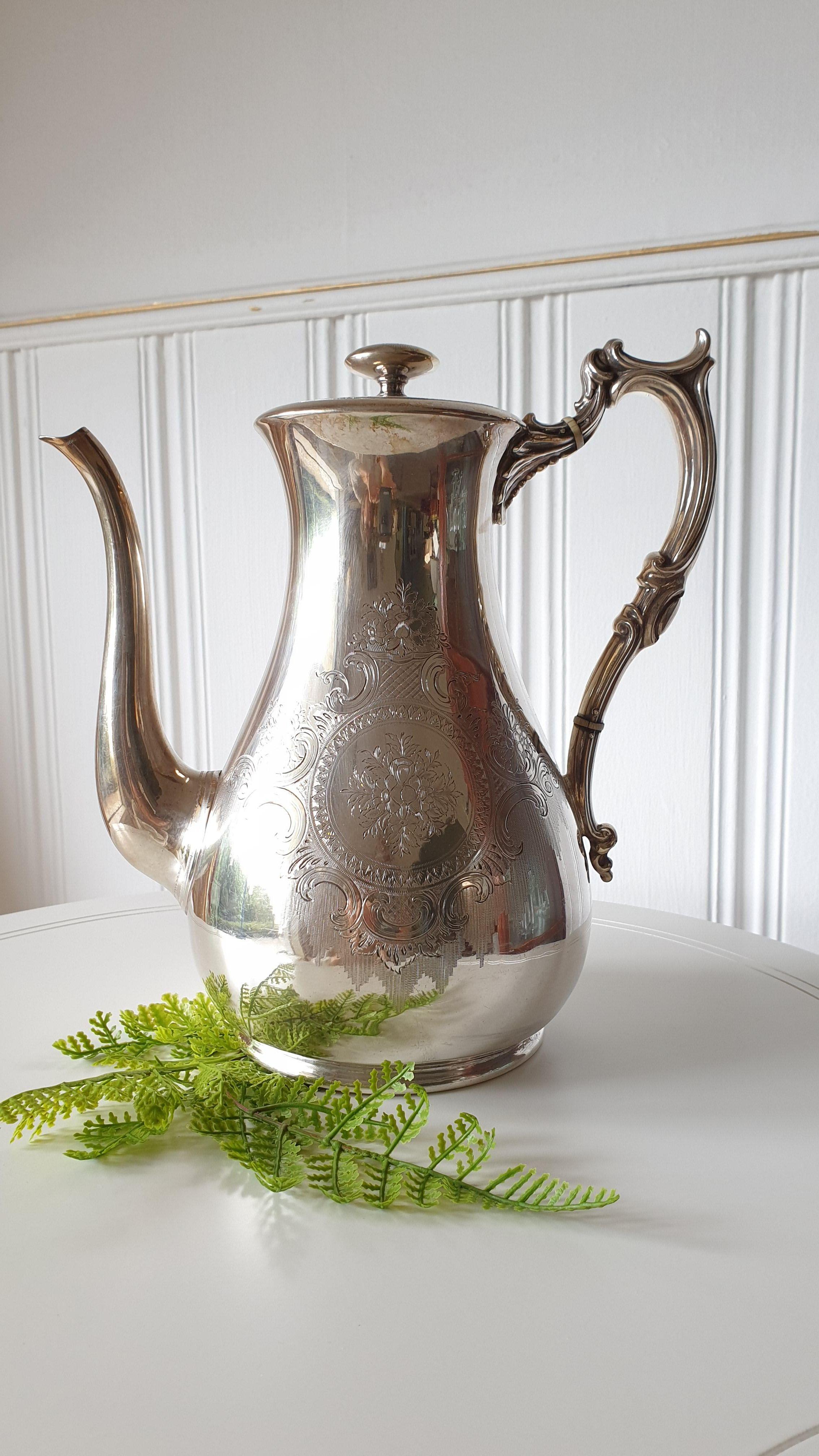 Kaffee Kanne Silber Plated