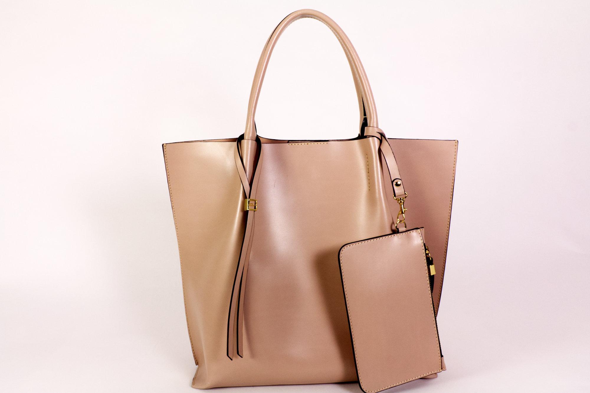 Gianni Chirini Damen Tasche beige mit Geldboerse