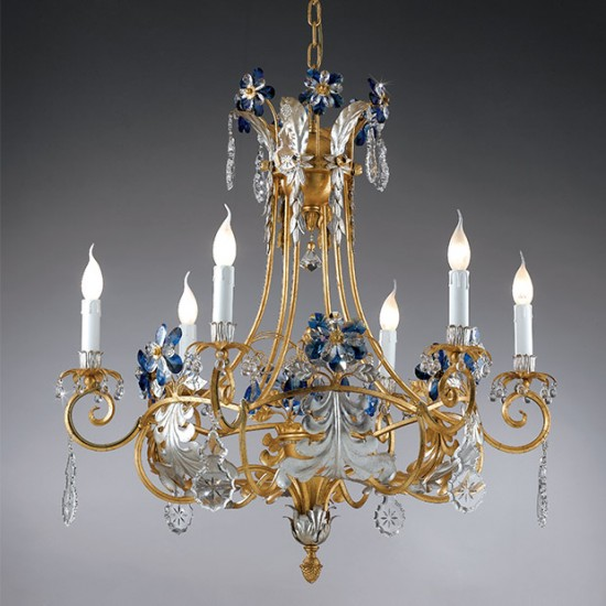 deckenleuchter-blauer-kristall-behang-golden-6-kerzen-epoca-1418-6