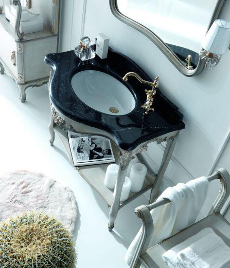 waschtisch-holz-geschnitzt-schwarzer-marmor-grau-silber-silvano-grifoni-3010