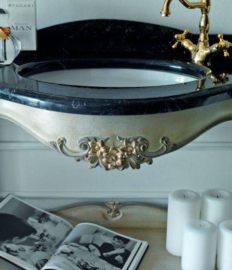 waschtisch-holz-geschnitzt-schwarzer-marmor-grau-silber-silvano-grifoni-3010-marmor